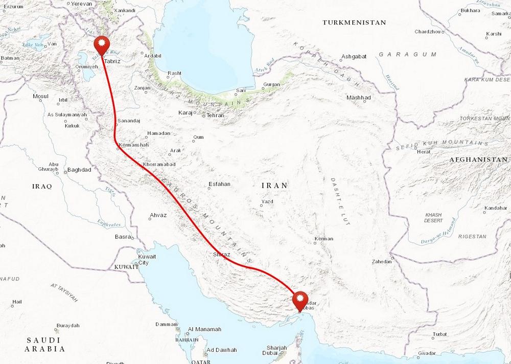 przejście gór zagros iran mapa