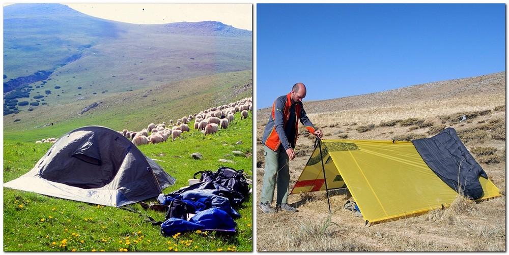 """""""wielka trójka"""" namiot tarp"""