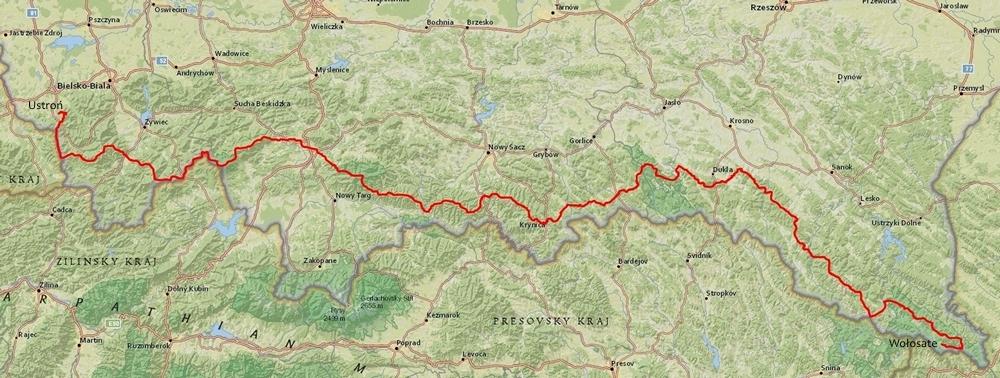 Główny Szlak Beskidzki - przebieg